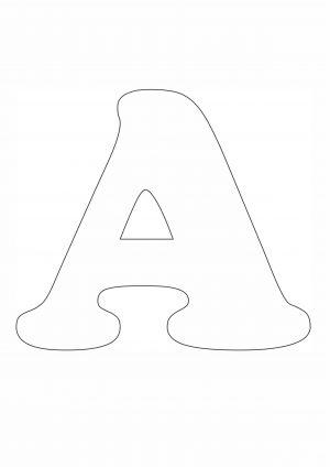 Трафарет буквы А