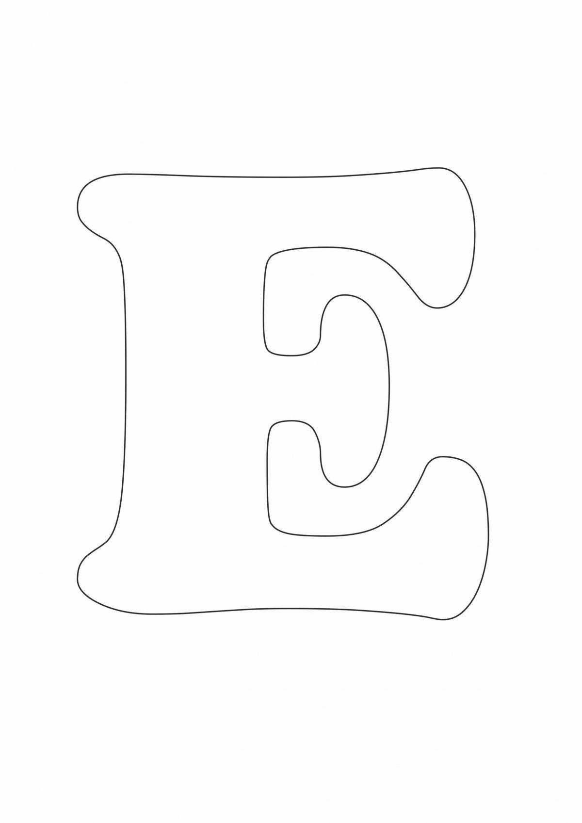 Трафарет буквы Е