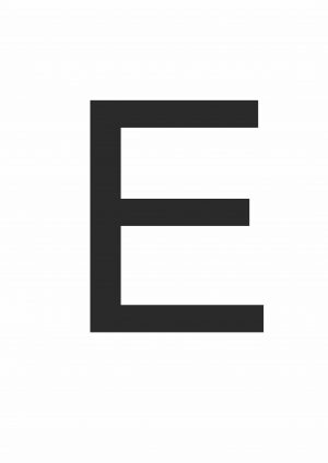 Буква Е формата А4