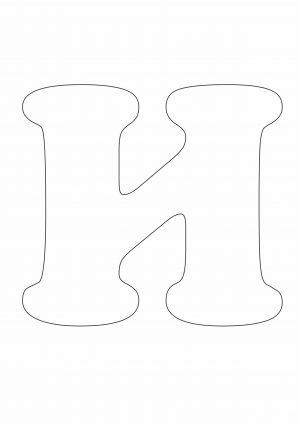 Трафарет буквы И