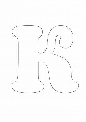 Трафарет буквы К