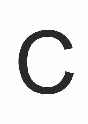 Буква С формата А4
