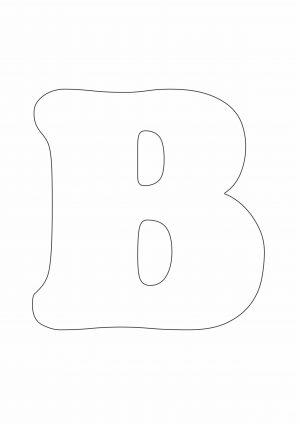 Трафарет буквы В