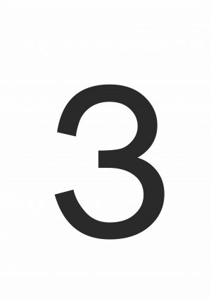 Буква З формата А4