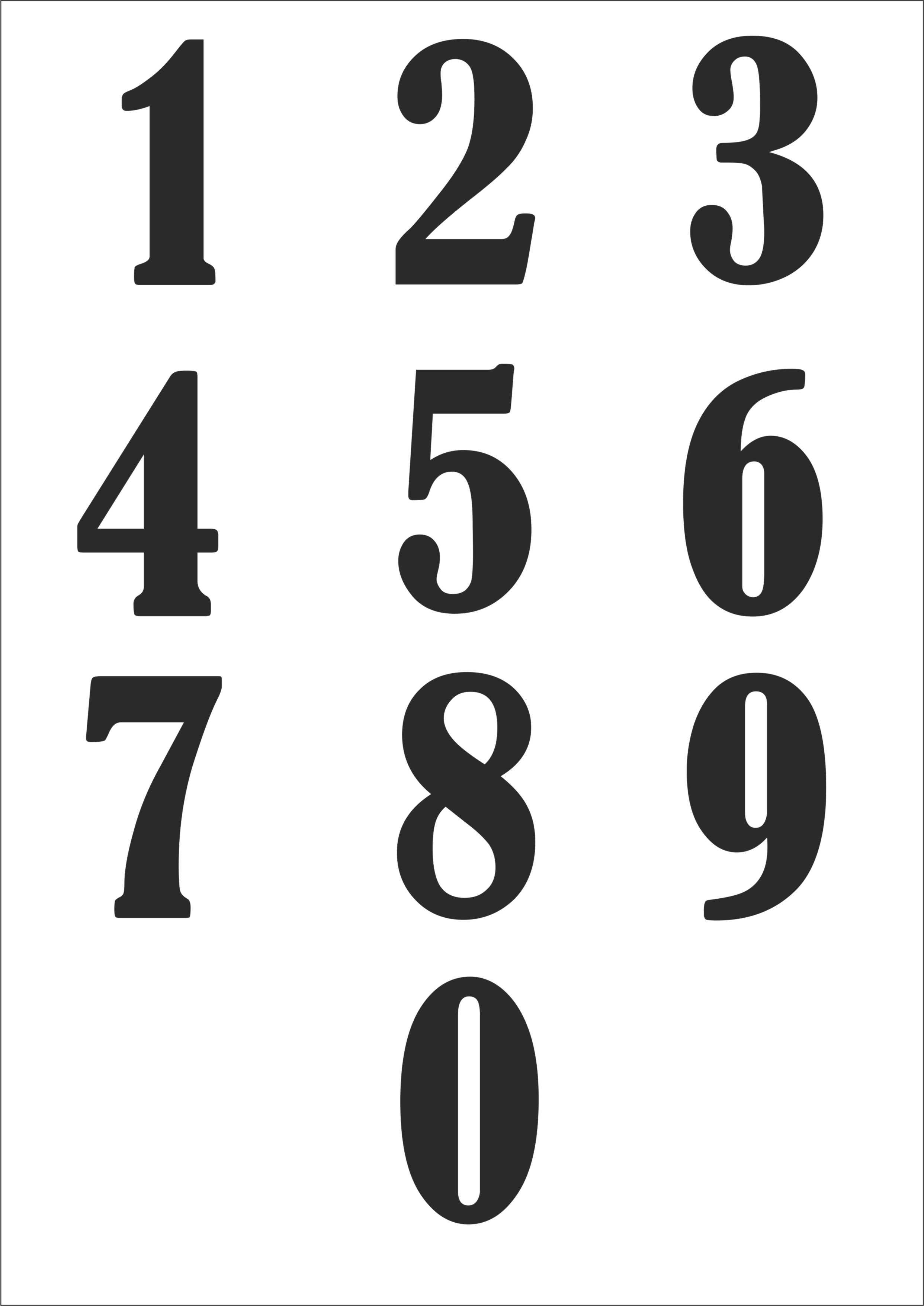 шаблоны цифр для фото восхитились стройностью