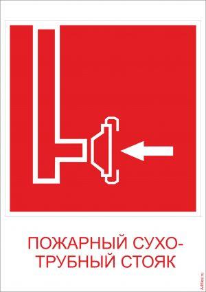 """""""Пожарный сухотрубный стояк"""" - формат А4"""