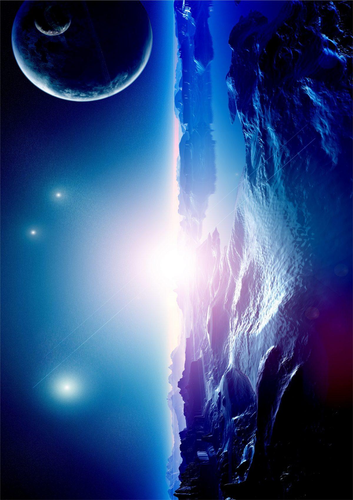 Картинка космоса - ледяная планета скачать