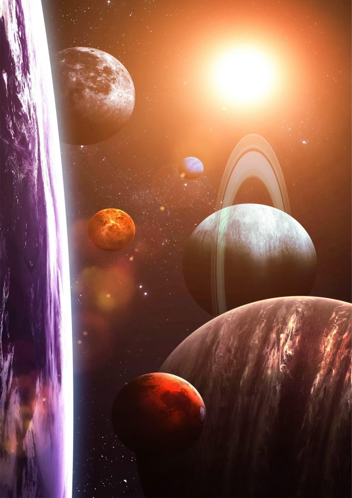 Солнечная система вид с орбиты Земли