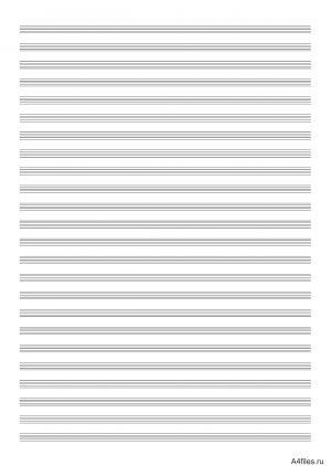 Нотный лист на 24 строки распечатать
