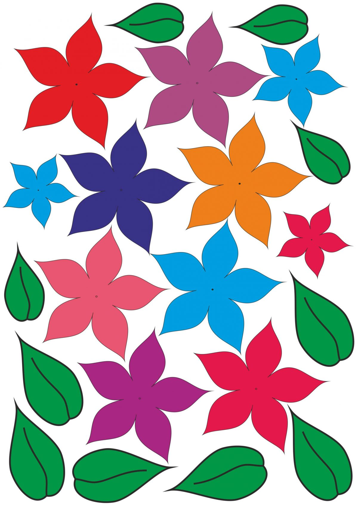 Цветы вырезать из бумаги скачать